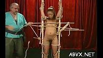 Intense bondage with older