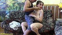 big natural breast chubby stepmom enjoys her fi...