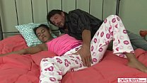 Ebony stepdaughter getting fucked by her stepdad again