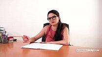 Franceska Dicaprio POV sex in the office