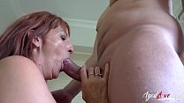 Fingering and hardcore mature fuck with handy guy