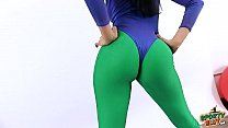 Watch AMAZING BUTT BRUNETTE and  CAMEL-TOE In Super-Tight 80s Spandex! preview