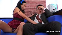 Senior teacher pleasures and reams nude stunnin...