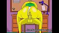 Marge and Homer Simpsons in funny orgies with t...