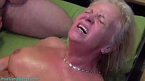 big boob blonde grandma enjoys her first german...