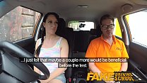 Fake Driving School Messy creampie climax for sexy cheating learner Thumbnail