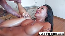 Asian babe gets banged hard