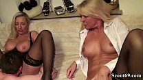 German m. and girlfriend fuck the youngster