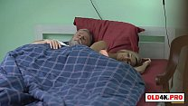blonde teen with small tits has morning sex wit...
