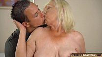 granny fucks with her young lover