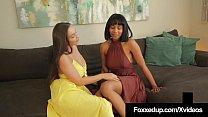 Dark Young Diva, Jenna Foxx & Brunette girlfrie...