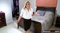 Watch Horny blonde mom seducing son when hubby is out of town preview