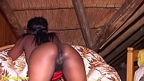 horny african stepmom gets rough whipped and fu...