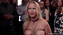 Two busty slaves in lingerie Karmen Karma and S...