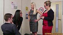 British spex femdoms tug sub in british group
