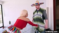 Blonde latina Luna Star is tight booty and gian...