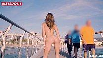 Cum on My Tits at the Beach - LETSDOEIT.COM