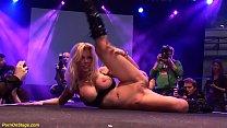 big boob flexible german milf toying her wet oi...
