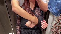 My girlfriend KleoModel sucks cock in a public ...