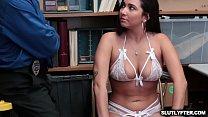 Seductive shoplifter Karlee Grey gives blowjob ...