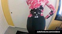 Busty Blonde Milf Julia Ann stuffs her mature m...
