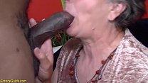 hairy big breast 80 years old mom enjoys her fi...