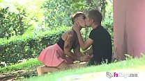 'Can I suck your cock?' Violeta looks for guys in a park Thumbnail