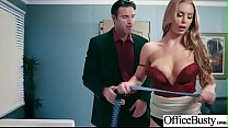 Hardcore Sex In Office With Huge Boobs Girl (Ni...