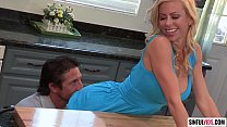 Big titted cougar Alexis Fawx loves kitchen sex...