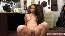 Sexy amateur brunette woman gives a nice blowjo...