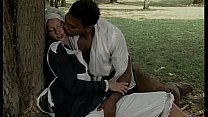 Black slave pounce on a white servant for fuck ...