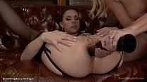 Hot brunette lesbian Chanel Preston rimming big...