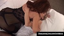 Mature Mommy Deauxma Stuffs her tongue inside s...