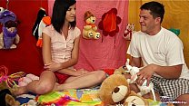 TeenyPlayground Teen facial and fucking from be...