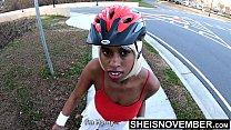 4k UHD Ebony Big Ass Riding My Bike & Big Tits ...
