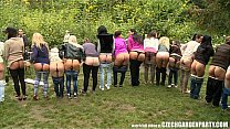 Outdoor sex party everyone fucking each other