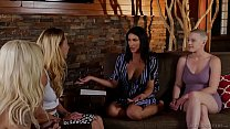 Watch August Ames and Riley Nixon licking pussy in front of another lesbian couple preview