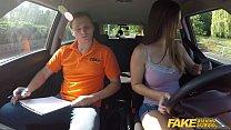 Fake Driving School Beautiful brunette Jenifer ...