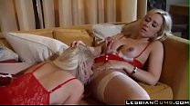 Horny Lesbians Having fun in Christmas