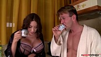 Watch Busty milf's big tits get spermed all over after Clanddi Jinkcego rides his dick preview
