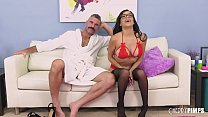 Savannah Sixx is in sexy stockings and ready fo...