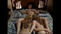 Two curly blondes passionately lick wet pussy o...