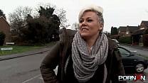 Naughty European blonde milf with big tits Bree...