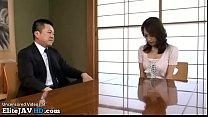 Jav busty Milf satisfies the boss of her husband