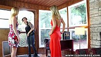 StepSiblings blondes and brunette in a sensual ...