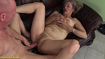 hairy 76 years old big boob mom gets extreme ro...