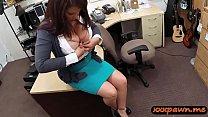 Big breasts latin woman gives a blowjob and get...