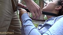 Watch she let me cum inside her pussy on a hiking trail! preview