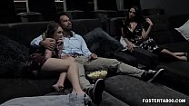 Foster dauther joins her parents in a family th...