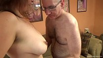 Cute brunette with big natural tits gets fucked...